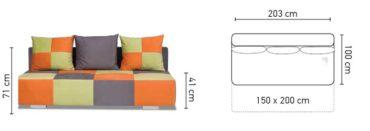 Banderas kanapé méretei