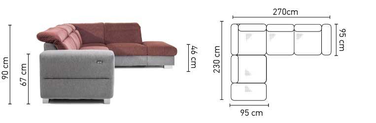 Ferra kanapé méretek