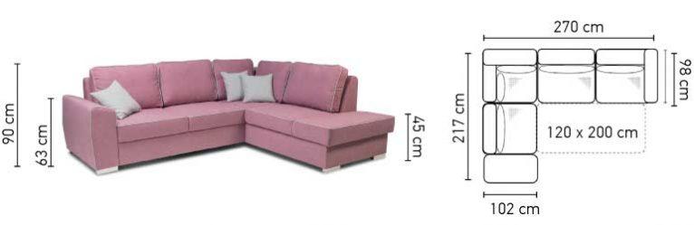 Havana kanapé méretei