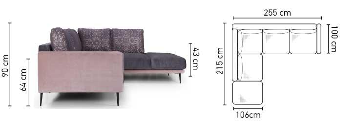 Russi kanapé méretei