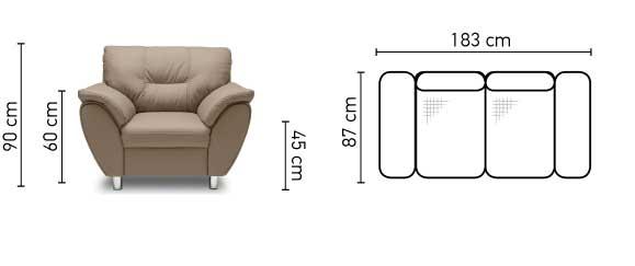 Amigo 2 személyes kanapé méretek