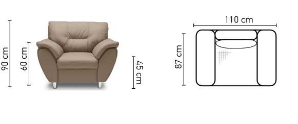 Amigo fotel méretek