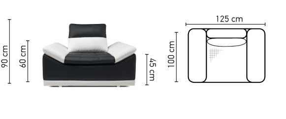 Manilla fotel méretei